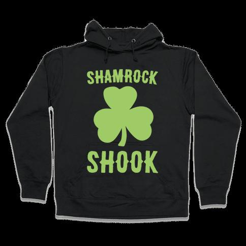 Shamrock Shook White Print Hooded Sweatshirt