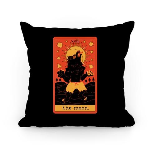 The Moon Werewolf Tarot Pillow