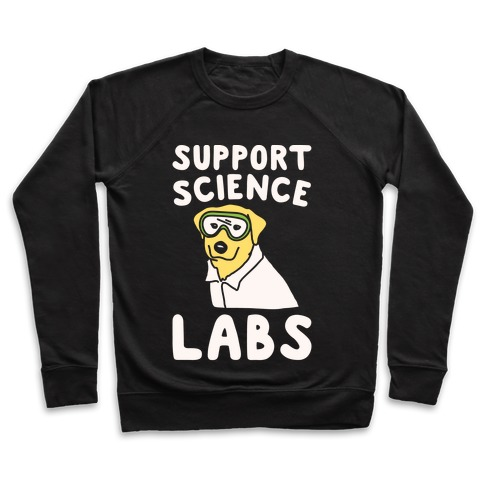 Support Science Labs White Print Pullover