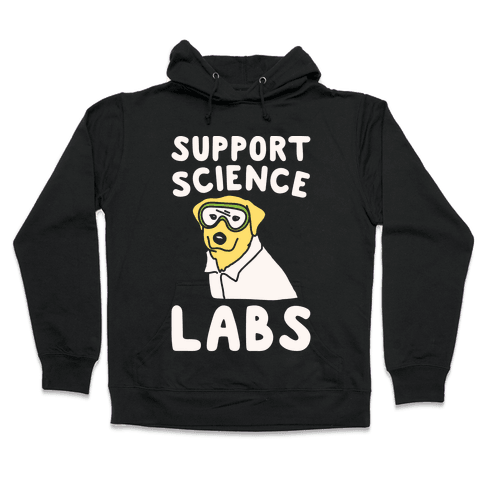 Support Science Labs White Print Hooded Sweatshirt