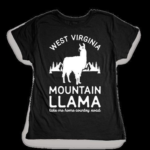 Mountain Llama Take Me Home Womens T-Shirt
