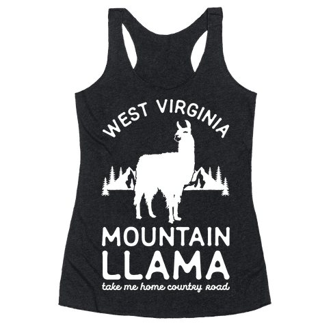 Mountain Llama Take Me Home Racerback Tank Top
