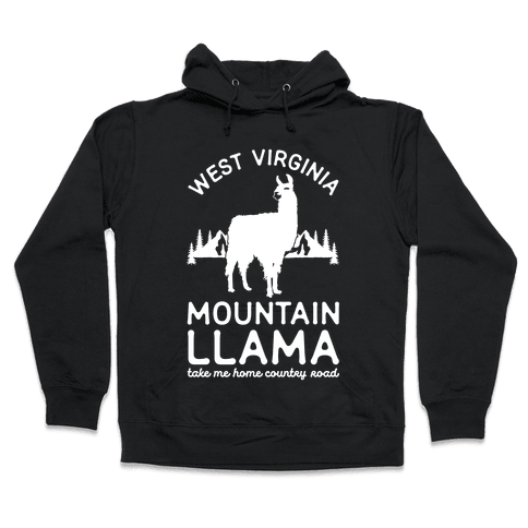 Mountain Llama Take Me Home Hooded Sweatshirt