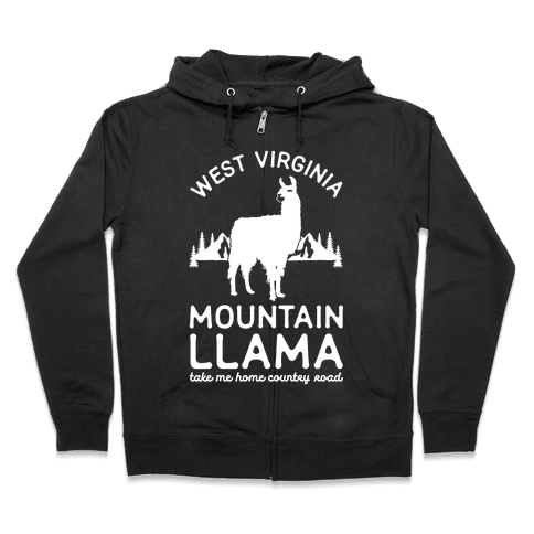 Mountain Llama Take Me Home Zip Hoodie