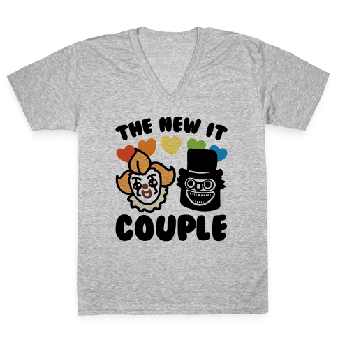 The New It Couple Parody V-Neck Tee Shirt