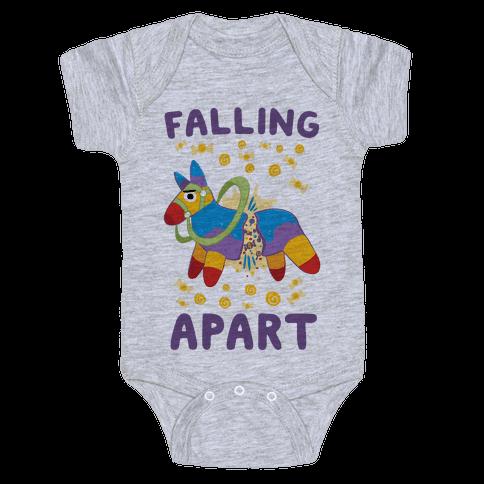 Falling Apart Pinata Baby Onesy