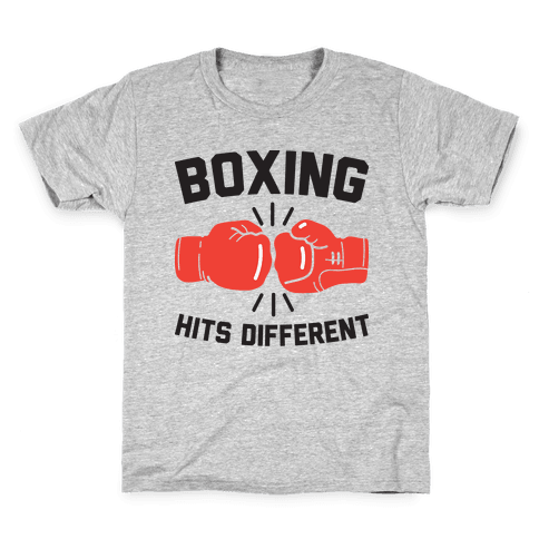 Boxing Hits Different Kids T-Shirt