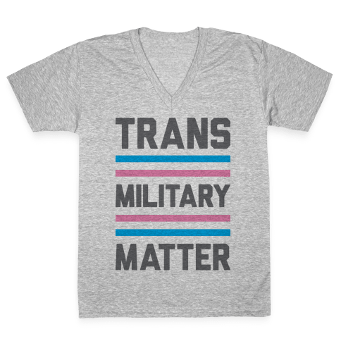 Trans Military Matter V-Neck Tee Shirt