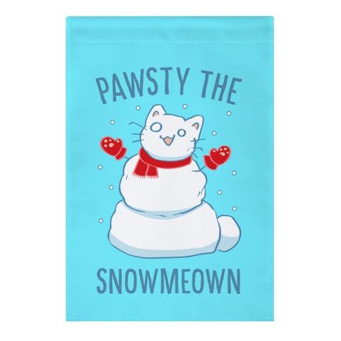 Pawsty The Snowmeown Garden Flag