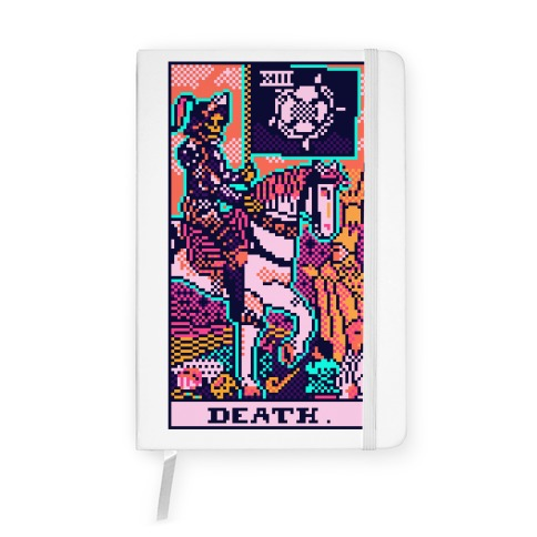 Pixelated Death Tarot Card Notebook