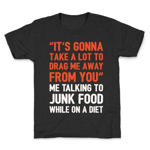 Toto Africa Junk Food Parody White Print Kids T-Shirt