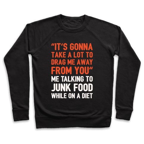 Toto Africa Junk Food Parody White Print Pullover