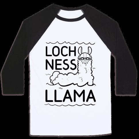 Loch Ness Llama Baseball Tee