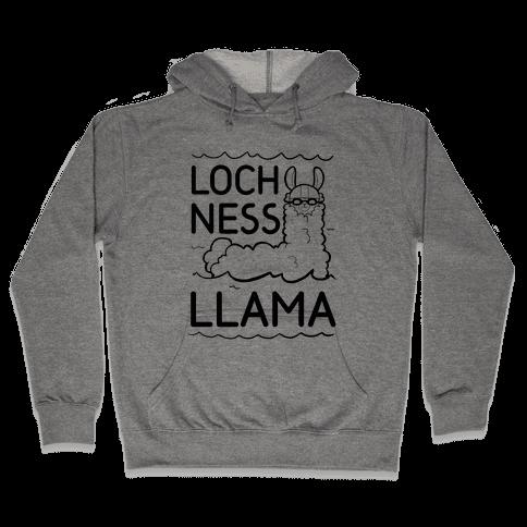 Loch Ness Llama Hooded Sweatshirt