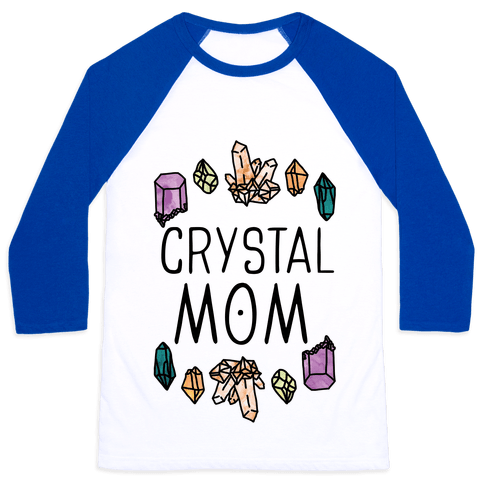 Crystal Mom Baseball Tee