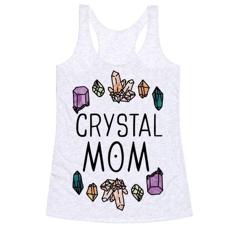 Crystal Mom Racerback Tank Top