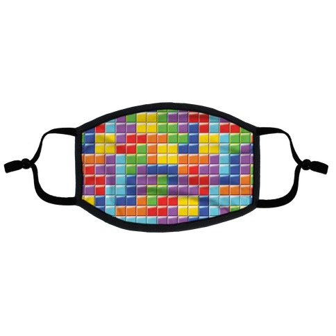 Tetris Pattern Flat Face Mask