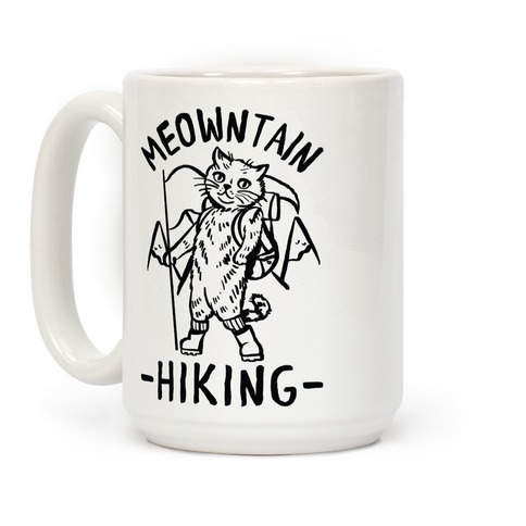 Meowntain Hiking Cat Coffee Mug