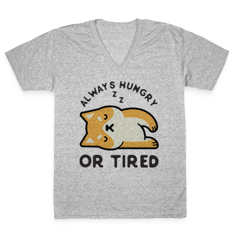 Always Hungry Or Tired Baby V-Neck Tee Shirt