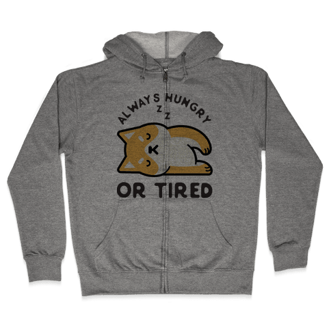 Always Hungry Or Tired Baby Zip Hoodie