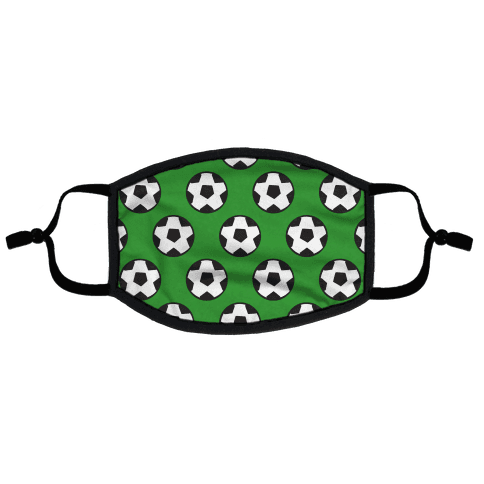 Soccer Pattern Flat Face Mask