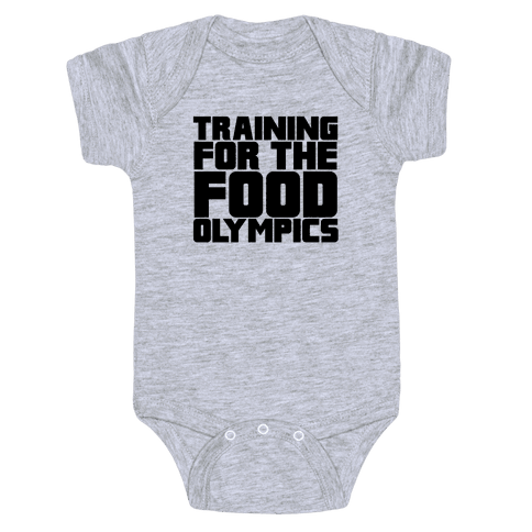 Training for the Food Olympics Baby Onesy