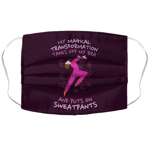 Magical Sweatpants Transformation Accordion Face Mask
