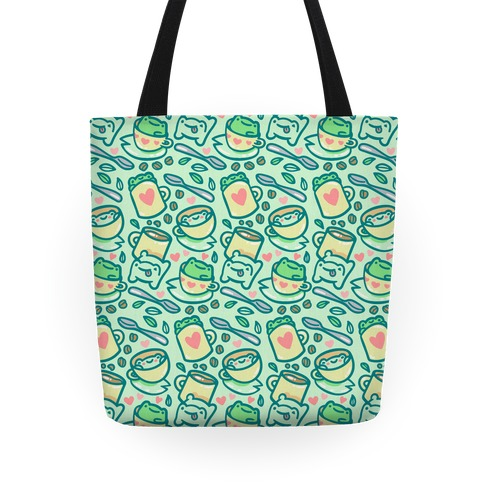 Coffee And Tea Frogs Tote