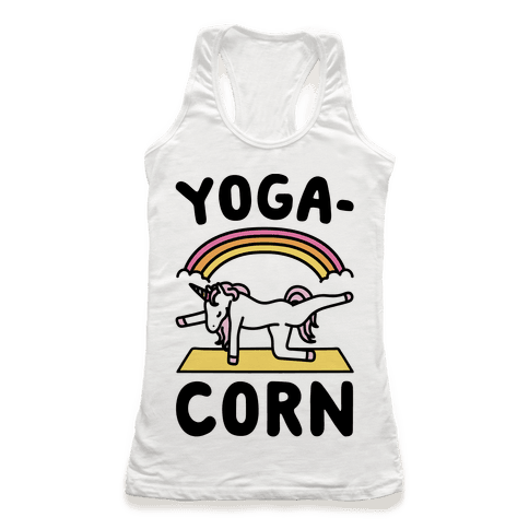 Yoga-Corn  Racerback Tank Top