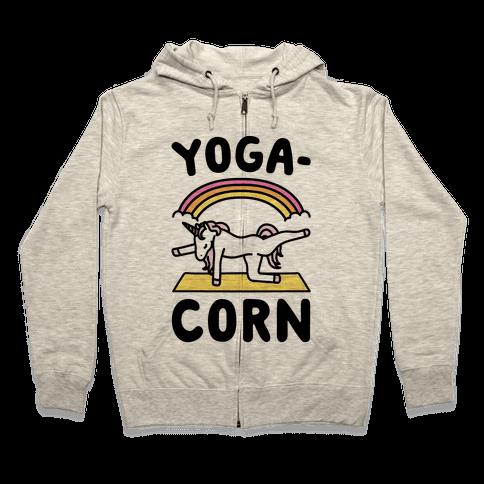 Yoga-Corn  Zip Hoodie