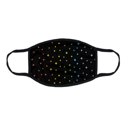Rainbow Sparkles Flat Face Mask