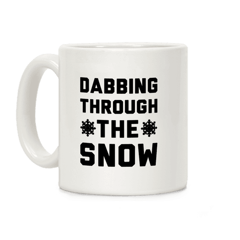 Dabbing Through The Snow  Coffee Mug