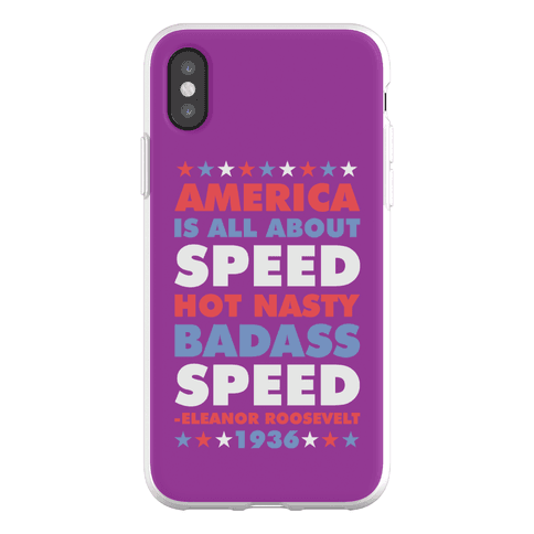 America is All About Speed Phone Flexi-Case