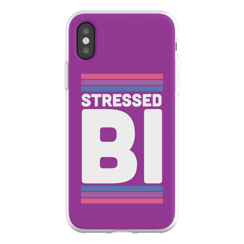 Stressed Bi Phone Flexi-Case