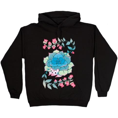 Hedgehog Succulent Hooded Sweatshirt