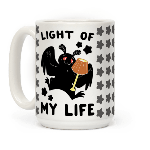 Light of my Life - Mothman and Lamp Coffee Mug