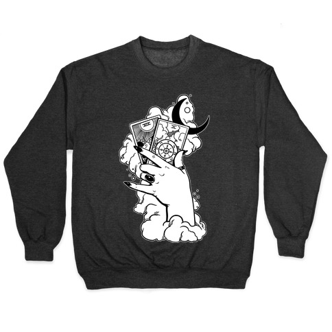 Hand Holding Tarot Cards Pullover