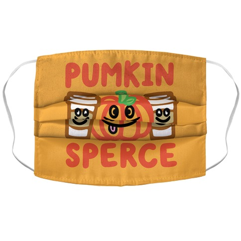 Pumkin Sperce Parody Accordion Face Mask