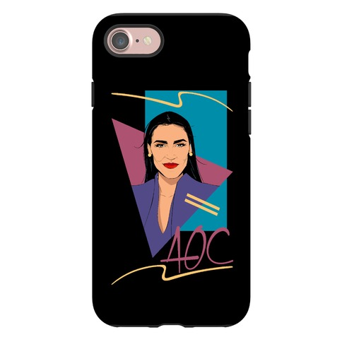 80s Style AOC Alexandria Ocasi-Cortez Parody Phone Case