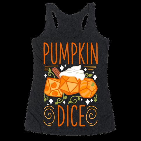 Pumpkin Dice Racerback Tank Top