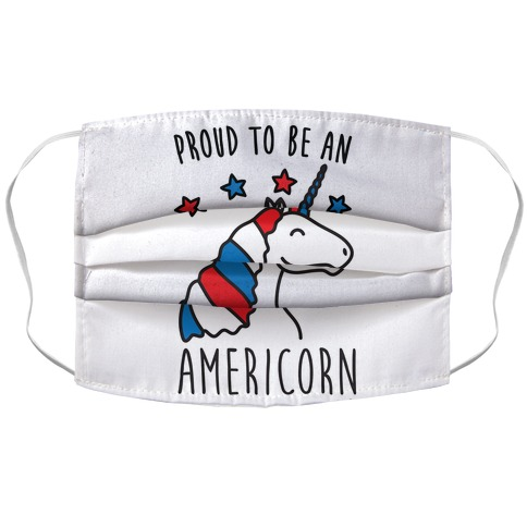 Proud To Be An Americorn Face Mask Cover
