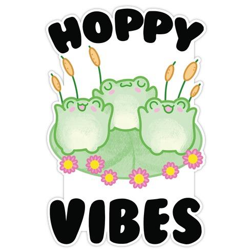 Hoppy Vibes Die Cut Sticker