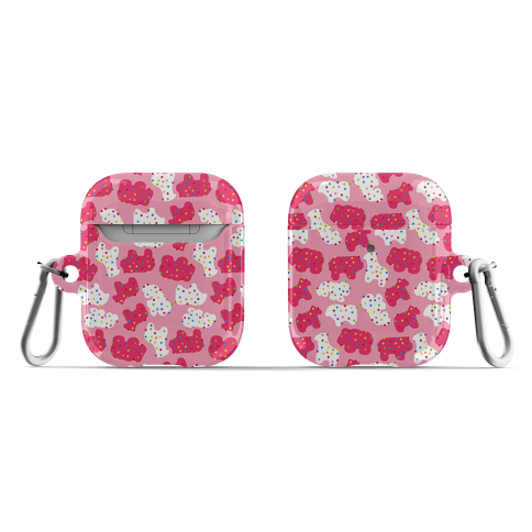 Frosted Animal Cracker Pattern AirPod Case