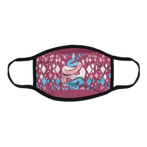 Pride Snakes: Trans Flat Face Mask