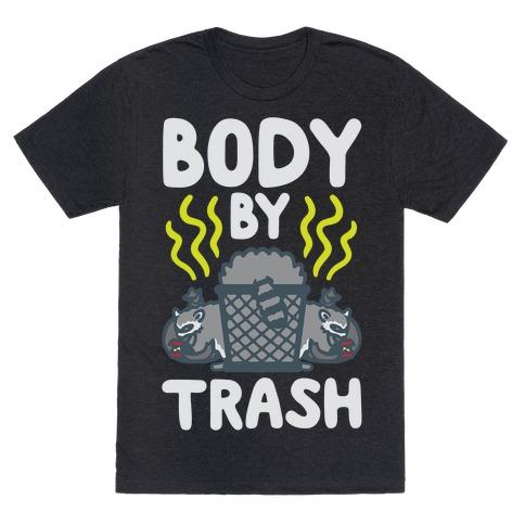 Body By Trash White Print T-Shirt