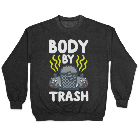 Body By Trash White Print Pullover