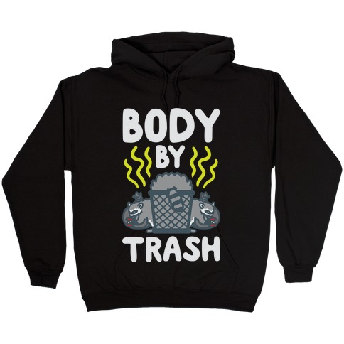 Body By Trash White Print Hooded Sweatshirt