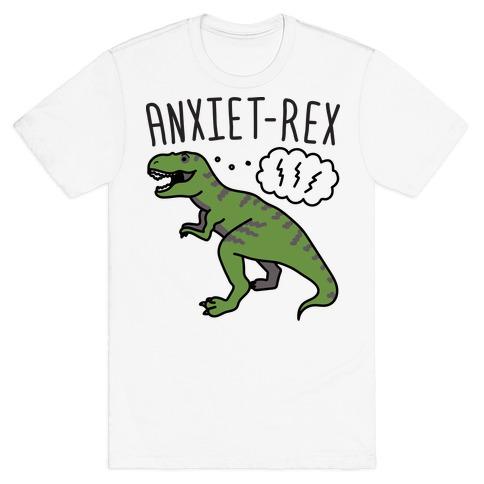 AnxieT-Rex Anxious Dinosaur T-Shirt