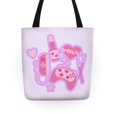 Kawaii Gamer Pattern Tote