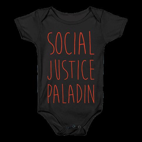 Social Justice Paladin Baby Onesy